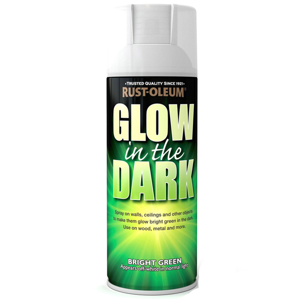 about rust oleum glow in the dark bright green spray paint 400ml. Black Bedroom Furniture Sets. Home Design Ideas