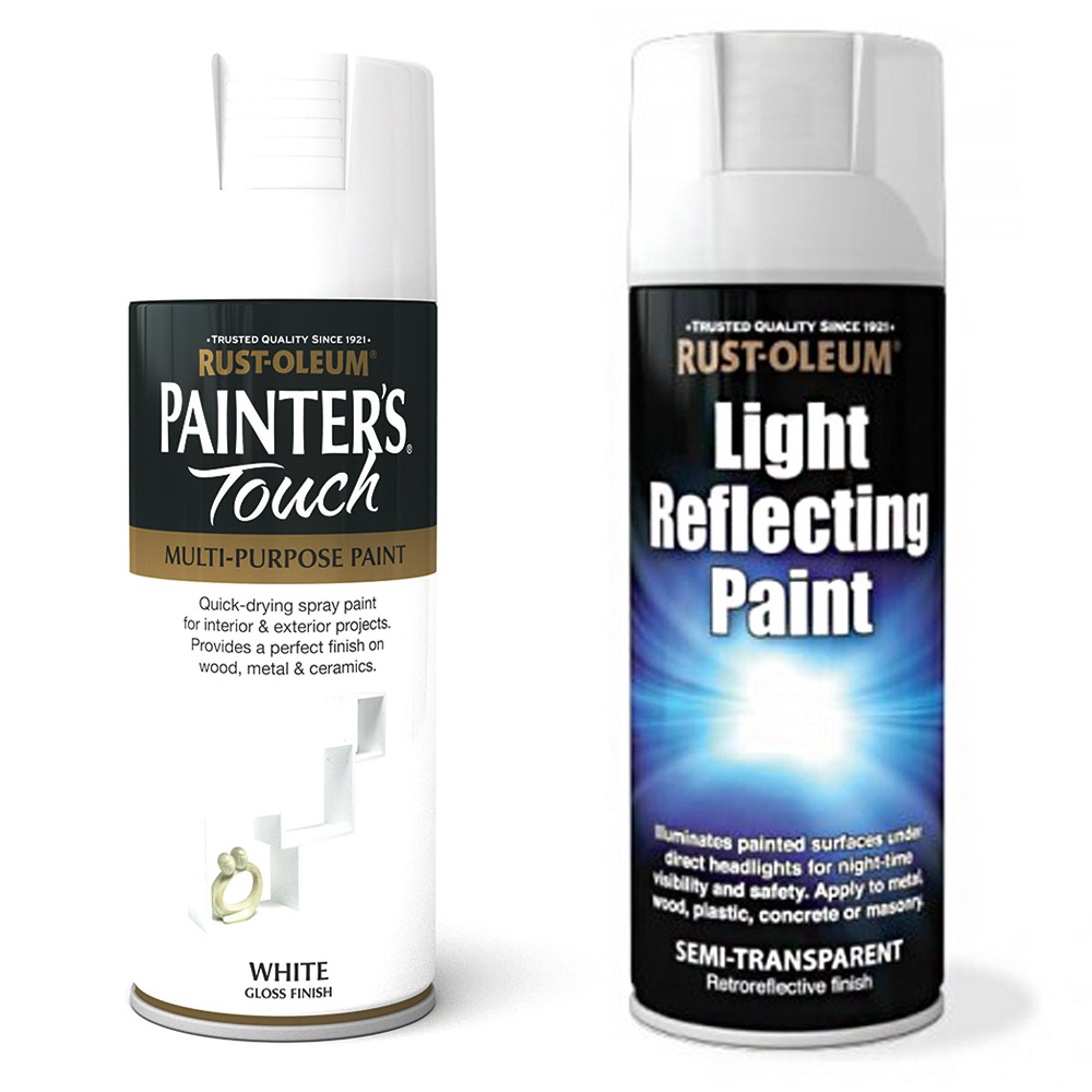 Rust Oleum Painters Touch White Gloss Spray Paint 400ml Light Reflective Paint Ebay