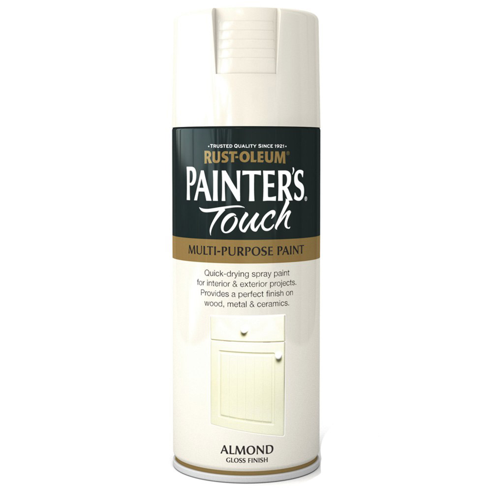 Rust Oleum Painters Touch Almond Cream White Gloss Spray