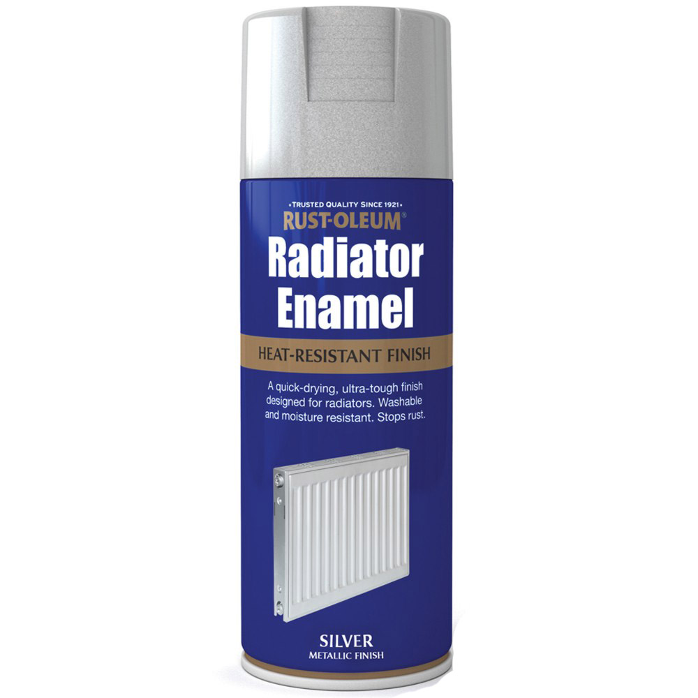 Rust Oleum Radiator Enamel Silver Metallic Spray Paint 400ml Ebay