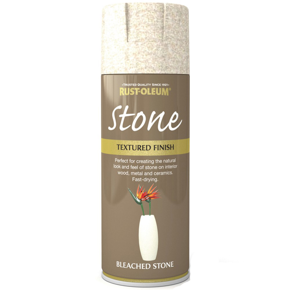 Rust Oleum Textured Stone Effect Bleached Stone Spray Paint 400ml Ebay