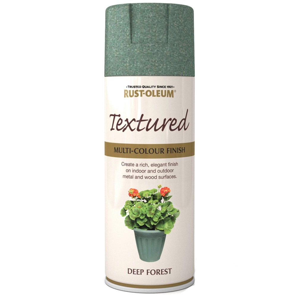 Rust Oleum Textured Multi Colour Finish Deep Forest Green Spray Paint 400ml Ebay