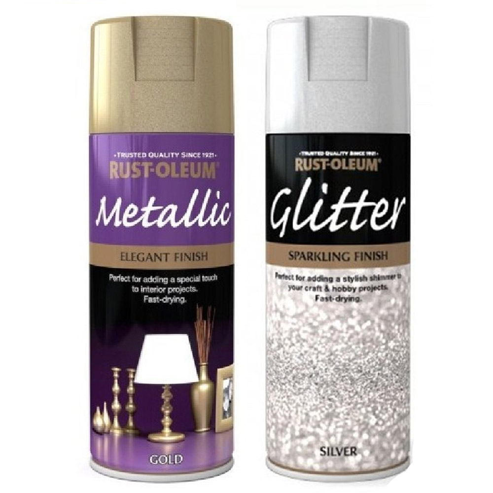 Elegant Gold Silver Glitter Top Coat Spray Paint Picture Frames