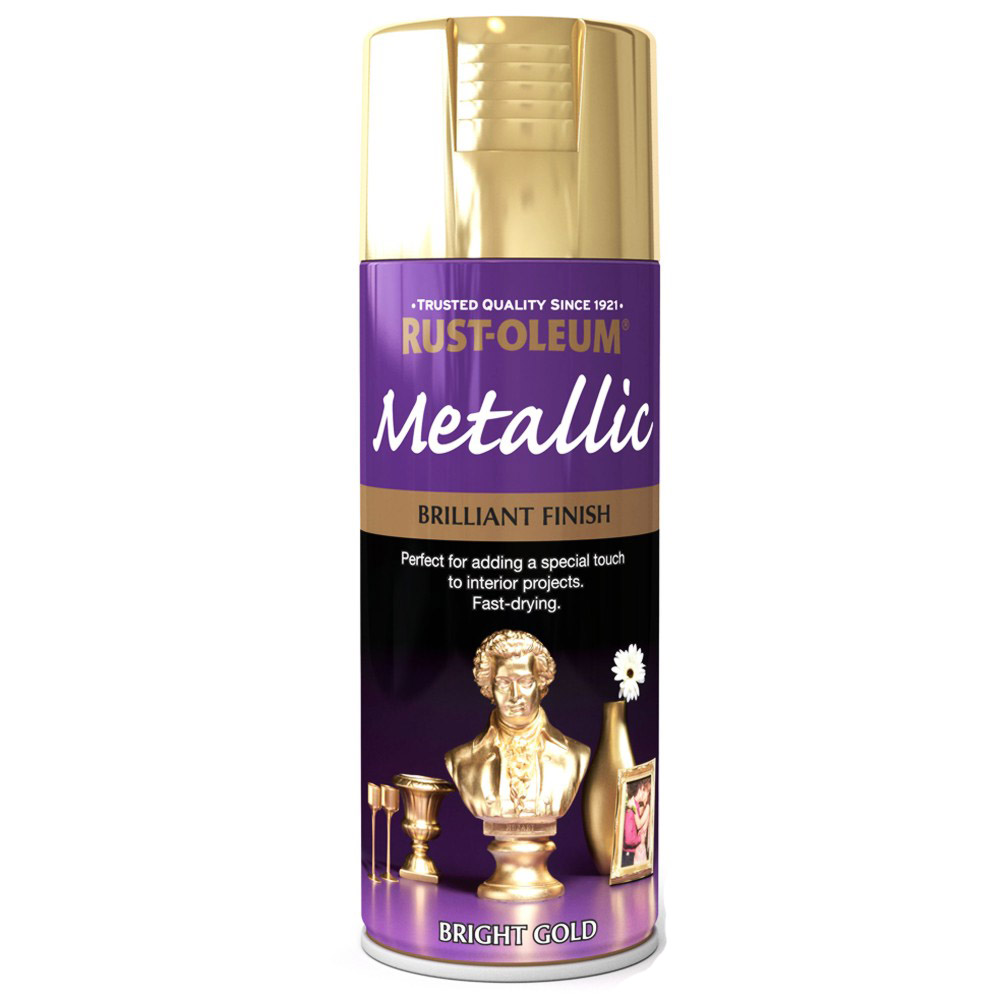 Rust Oleum Brilliant Metallic Gold Spray Paint 400ml Ebay