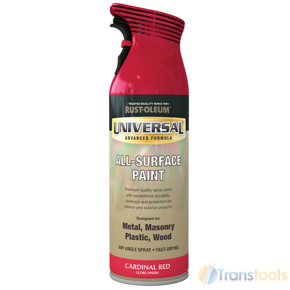 rust oleum universal all surface cardinal red gloss spray paint. Black Bedroom Furniture Sets. Home Design Ideas