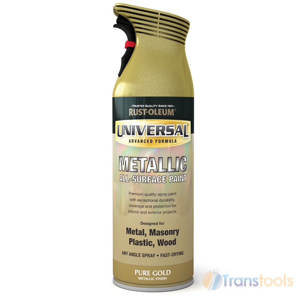 rust oleum universal all surface pure gold metallic spray