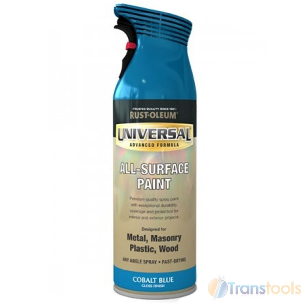 rust oleum universal all surface cobalt blue gloss spray paint 400ml. Black Bedroom Furniture Sets. Home Design Ideas