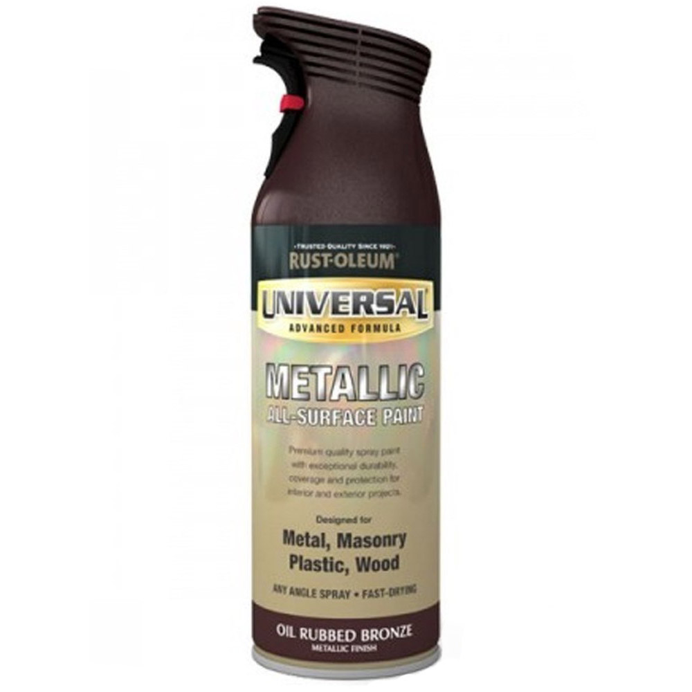 Rust Oleum Universal All Surface Oil Rubbed Bronze Metallic Spray Paint 400ml