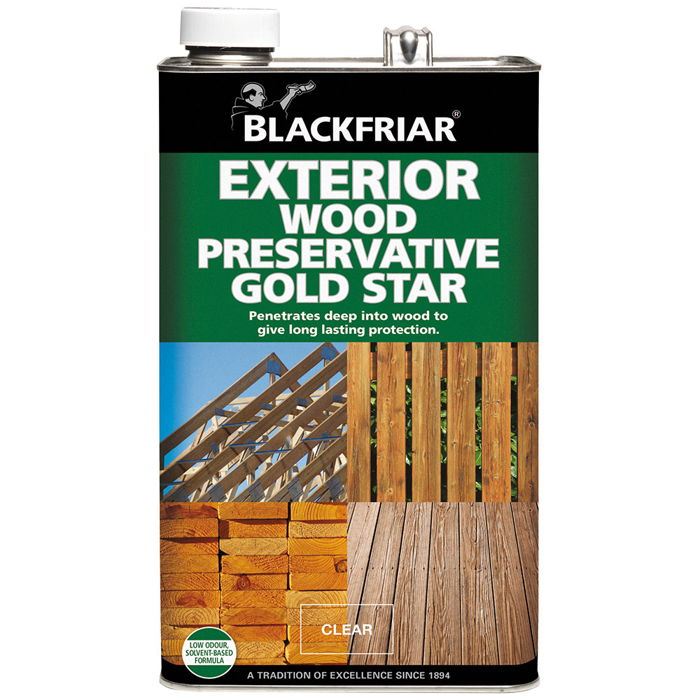 Blackfriar exterior wood timber shed fence preserver gold - How long does exterior paint last on wood ...
