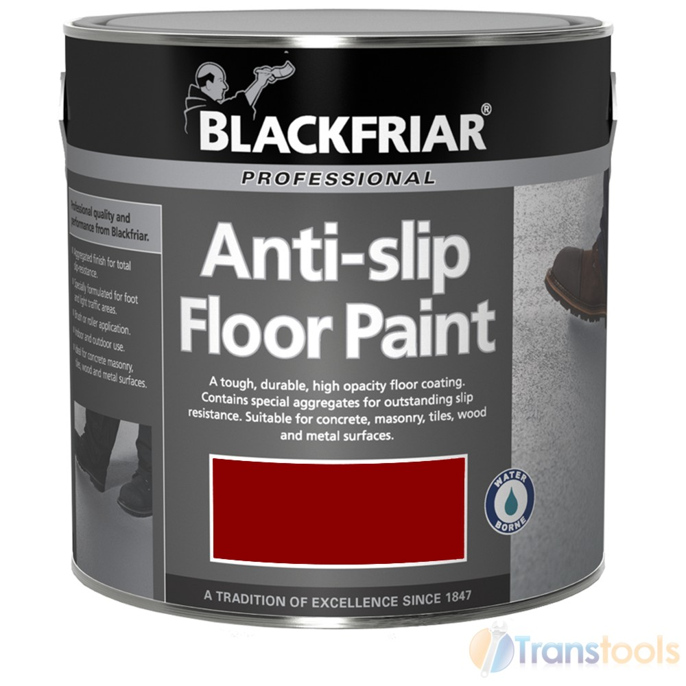 Blackfriar anti slip floor paint tile red indoor or outdoor 5 litres semi gloss ebay - Non slip exterior paint style ...