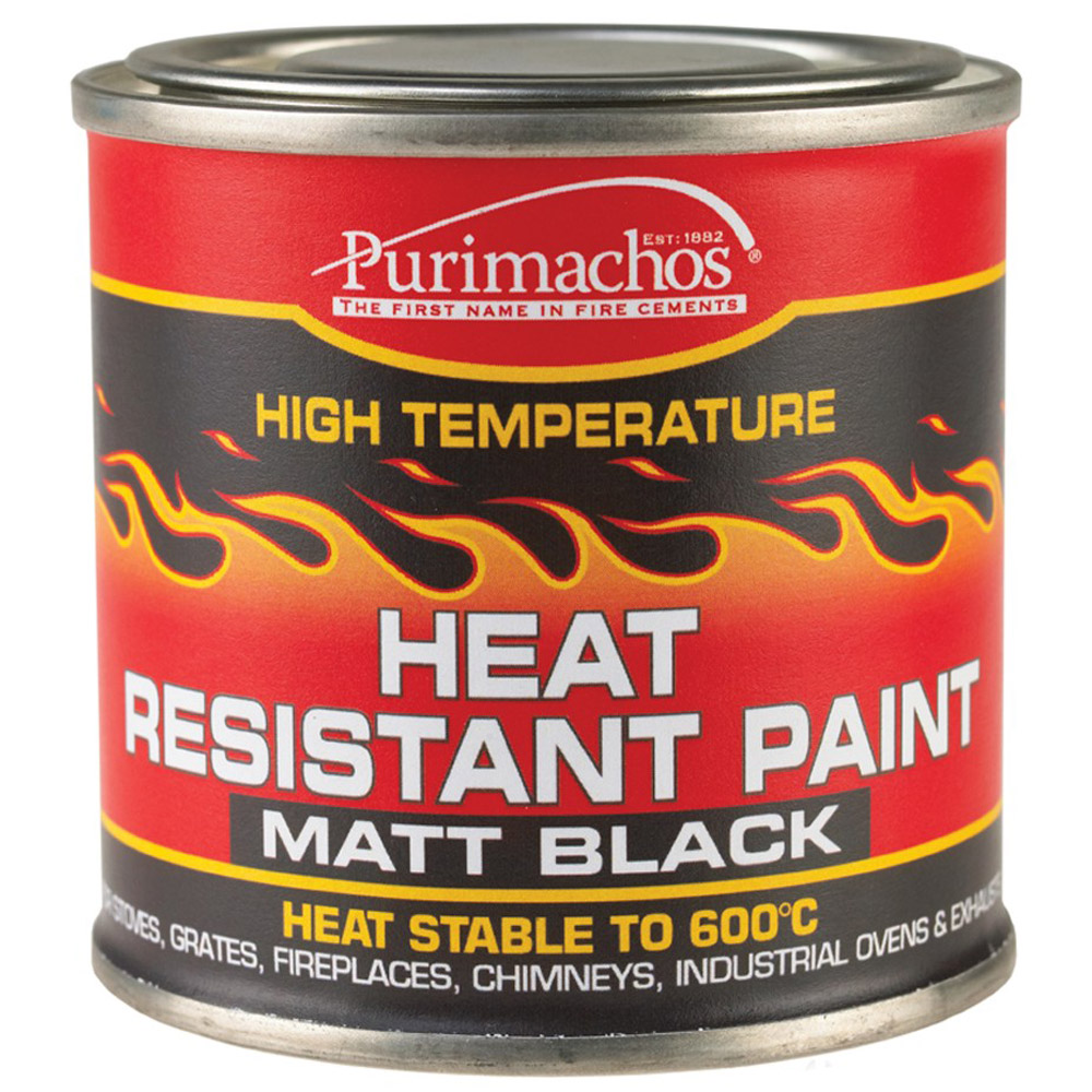 Everbuild heat resistant black paint 125ml high temperature fire ovens exhausts ebay Best rated paint