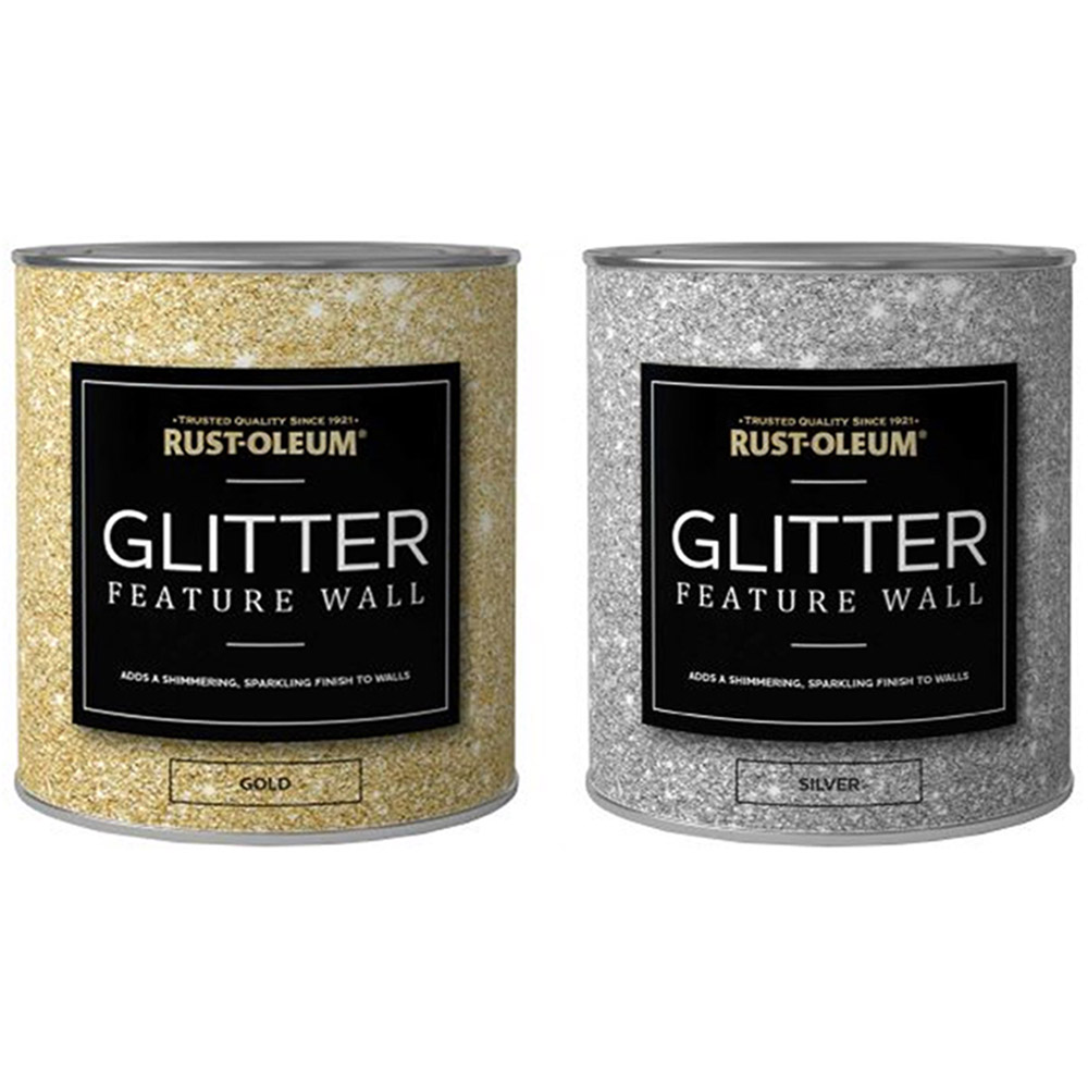 rust oleum 1 litre clear glaze glitter feature wall paint. Black Bedroom Furniture Sets. Home Design Ideas