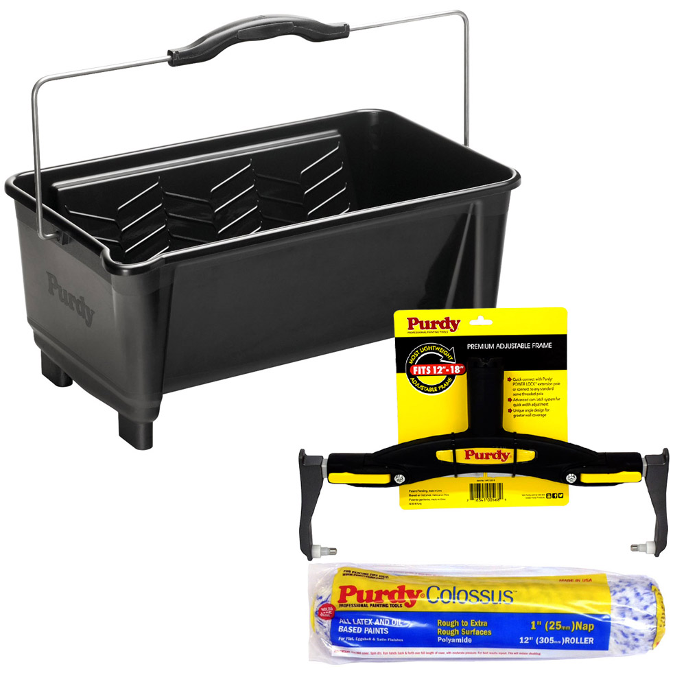 Purdy Dual Roll Off Paint Bucket 19l Adjustable Roller
