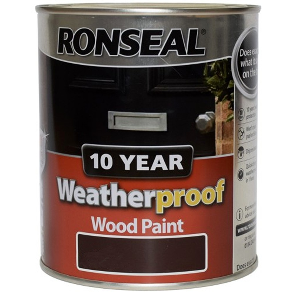 Ronseal 10 Year Weatherproof Exterior Wood Paint 750ml Satin Gloss All Colours Ebay