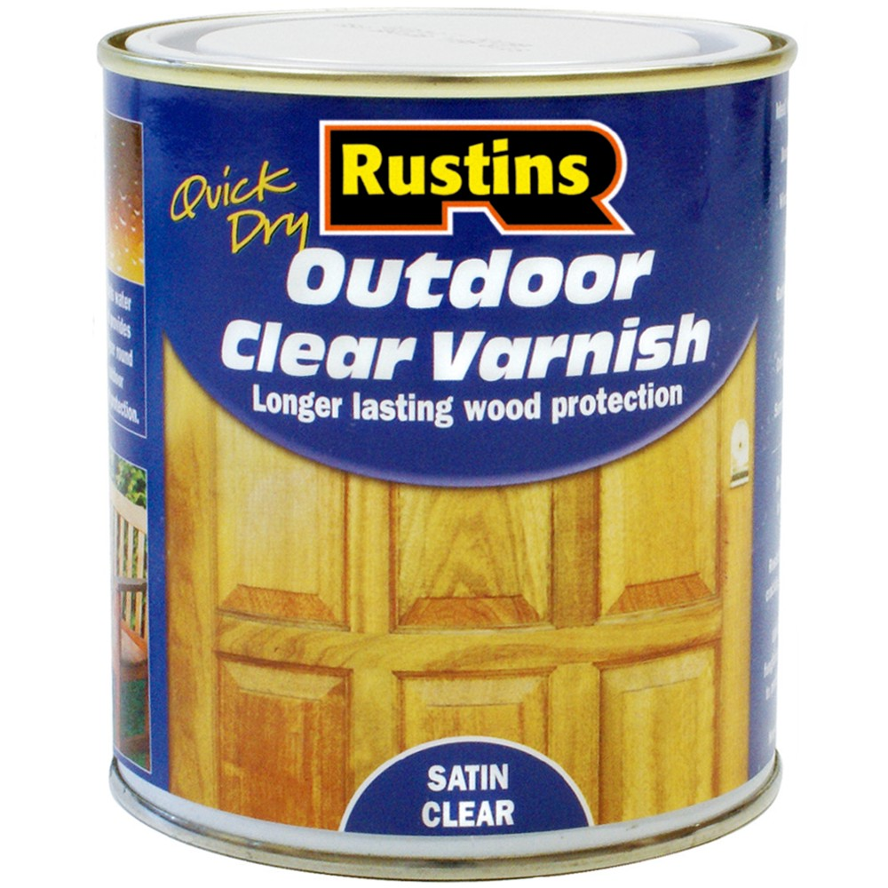 rustins quick drying outdoor exterior varnish wood protection satin clear 500ml ebay