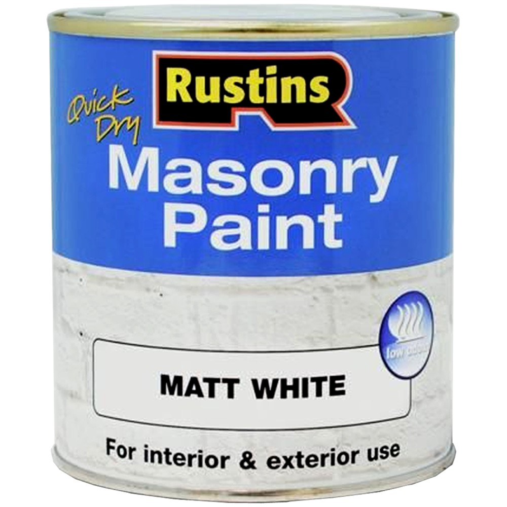 Rustins Quick Drying Masonry Paint Matt White For Interior Exterior Use 250ml Ebay
