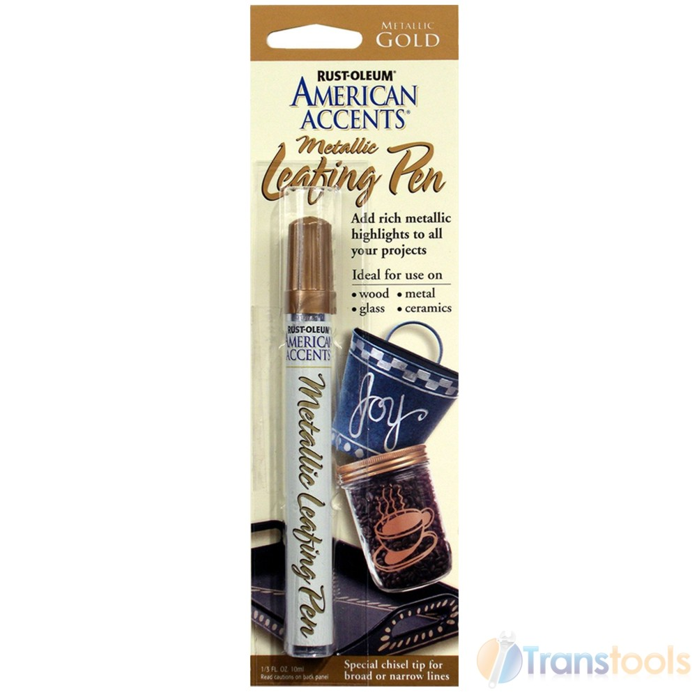 Rust oleum american accents metallic gold leafing pen 10ml for American crafts metallic marker