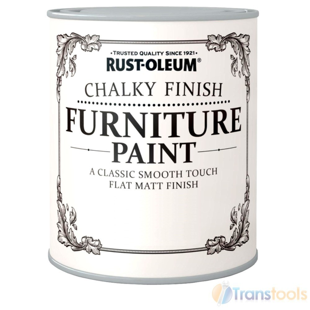 Rust Oleum Chalky Finish Wood Furniture Paint Smooth Matt Coating Water Based