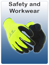 Safety Clothing, workwear, work trousers, knee pads, belts, googles, glasses, gloves, head and ear protection