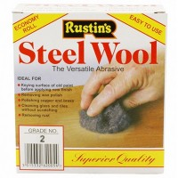 Rustins Steel Wire Wool Roll Coarse Grade 2 - 150g