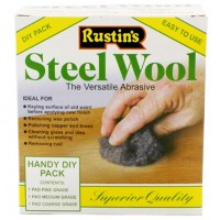 Rustins Steel Wire Wool Roll Mixed Pack