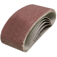 Silverline Cloth Sanding Belts 75mm x 457mm 60 Grit - 5 Pack