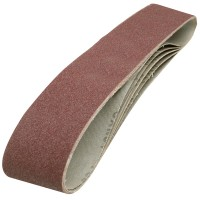 Silverline Cloth Sanding Belts 100mm x 915mm 80 Grit - 5 Pack