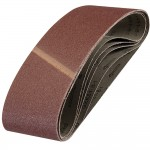 Silverline Cloth Sanding Belts 100mm x 610mm 60 Grit - 5 Pack