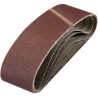 Silverline Cloth Sanding Belts 75mm x 533mm 60 Grit - 5 Pack