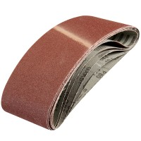 Silverline Cloth Sanding Belts 100mm x 610mm 80 Grit - 5 Pack