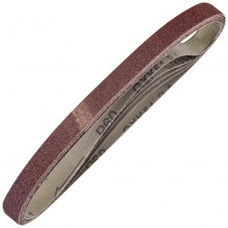 Silverline Cloth Sanding Belts 10mm x 330mm