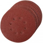 Silverline 125mm Punched Sanding Discs 120 Grit - 10 Pack