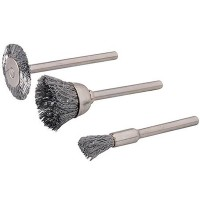 Silverline Steel Brush Set 5mm - 22mm - 3 Piece