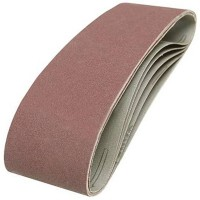 Silverline Cloth Sanding Belts 75mm x 533mm 120 Grit - 5 Pack