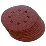 Silverline 125mm Punched Sanding Discs 80 Grit - 10 Pack