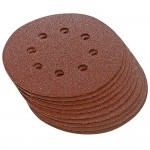 Silverline 125mm Punched Sanding Discs 60 Grit - 10 Pack