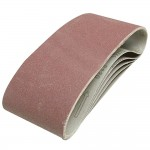 Silverline Cloth Sanding Belts 100mm x 610mm 40 Grit - 5 Pack