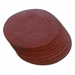 Silverline 125mm Hook And Loop Sanding Discs 80 Grit - 10 Pack