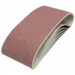 Silverline Cloth Sanding Belts 100mm x 610mm 120 Grit - 5 Pack
