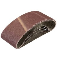 Silverline Cloth Sanding Belts 75mm x 457mm 80 Grit - 5 Pack