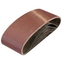 Silverline Cloth Sanding Belts 75mm x 457mm 120 Grit - 5 Pack
