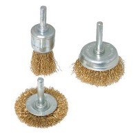 Silverline Wire Cup Brush Set - 3 Piece