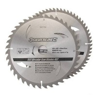 Silverline Circular Saw Blades TCT 250mm - 2 Pack