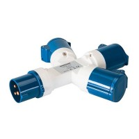 Silverline Industrial 3 Way Splitter Socket 240V - 16 Amp