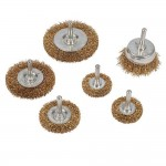Silverline Wire Wheel and Cup Brush Set - 6 Piece