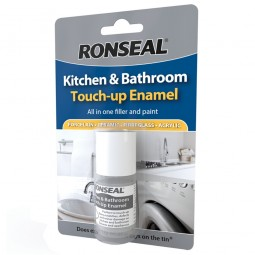 Ronseal Touch Up Enamel White 10ml for Bathrooms and Kitchens