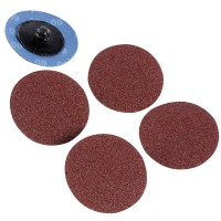 Silverline Twist Button 50mm Sanding Discs 60 Grit - 5 Pack