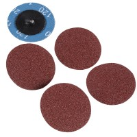Silverline Twist Button 50mm Sanding Discs 120 Grit - 5 Pack