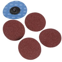 Silverline Twist Button 75mm Sanding Discs 80 Grit - 5 Pack