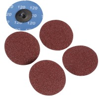 Silverline Twist Button 75mm Sanding Discs 120 Grit - 5 Pack